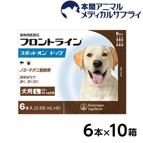 【送料無料】犬用 フロントラインスポット オン ドッグ L (20kg~40kg)60ピペット【動物用医薬品】【d_frnt】