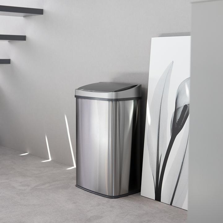 ゴミ箱 おしゃれ センサー自動開閉 大容量50リットル 2分別使用可能 母の日 45リットルゴミ袋対応 ふた付き ステンレス ごみ箱 ダストボックス WY