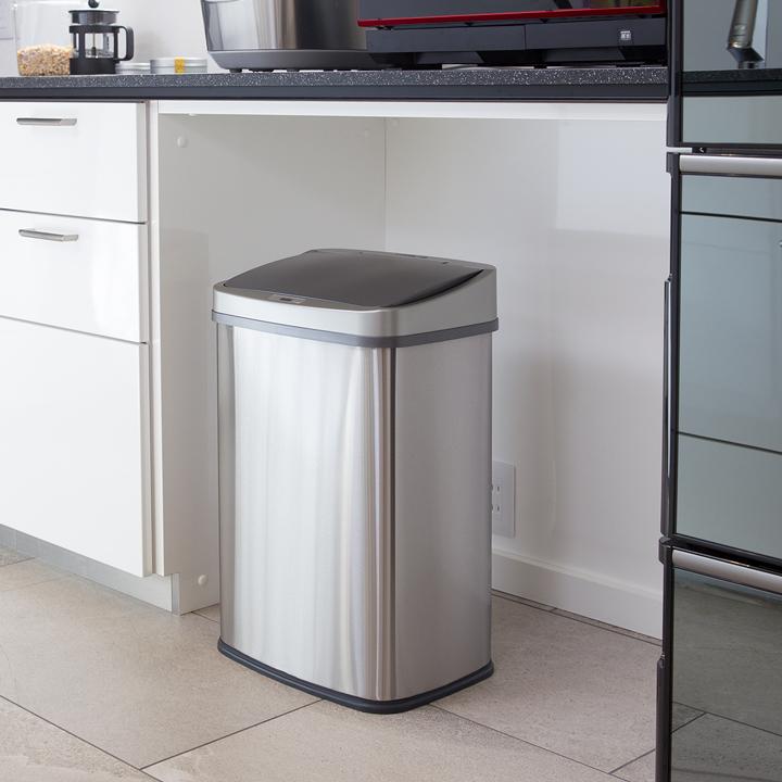 ゴミ箱 おしゃれ センサー自動開閉 大容量45リットル ふた付き 2分別使用可能 45リットルゴミ袋対応 母の日 ステンレス ダストボックス WY
