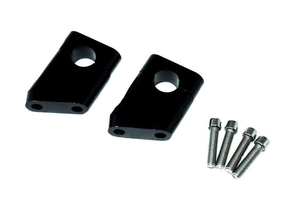 取り付ければハンドルが位置が高くなり手前にプルバックしますので、楽なポジションで走行できます。長距離ツーリングなどにはとても重宝するアイテムです。 φ22.2mm ハンドルクランプ ハンドルポスト ZRX400 ゼファー400 バリオス CB400SF CNC削り出し 黒