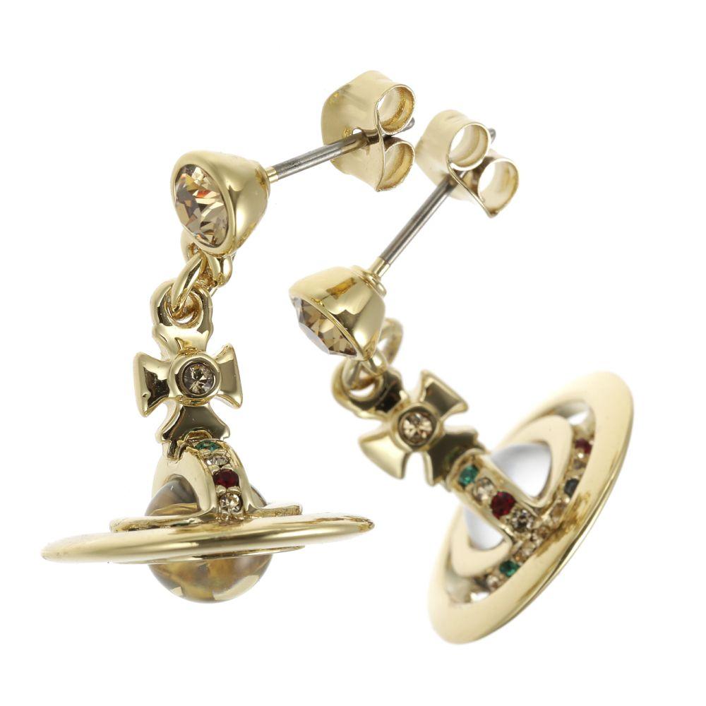 ヴィヴィアンウエストウッド ピアス VIVIENNE WESTWOOD 1467 14 01 ゴールド PETITE ORB EARRING (new)