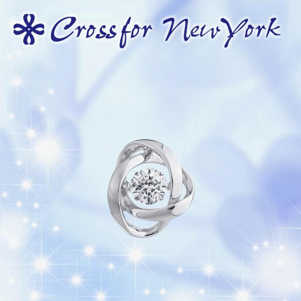 クロスフォー タイニーピン ダンシングストーン 【クロスフォー:Crossfor】 ループ2:Loop2 CROSSFOR NY-T012 シルバー