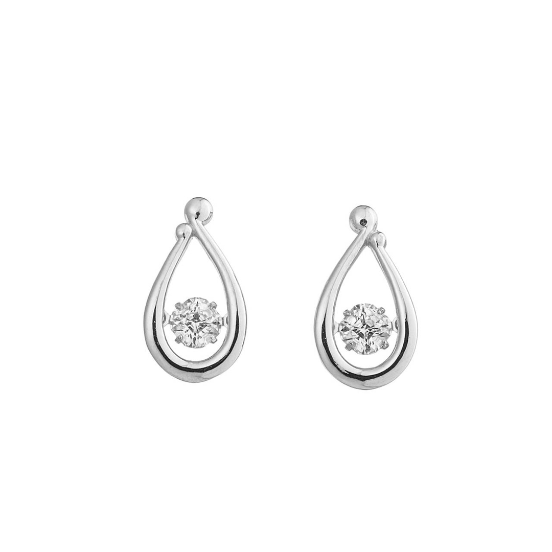 クロスフォー ピアス ダンシングストーン 【クロスフォー:Crossfor】 フェアリードロップ:Fairy Drop CROSSFOR NYE-118 シルバー