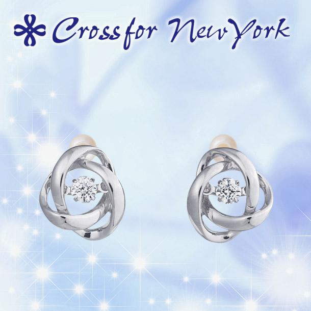 クロスフォー ピアス ダンシングストーン 【クロスフォー:Crossfor】 ループ2:Loop2 CROSSFOR NYE-117 シルバー
