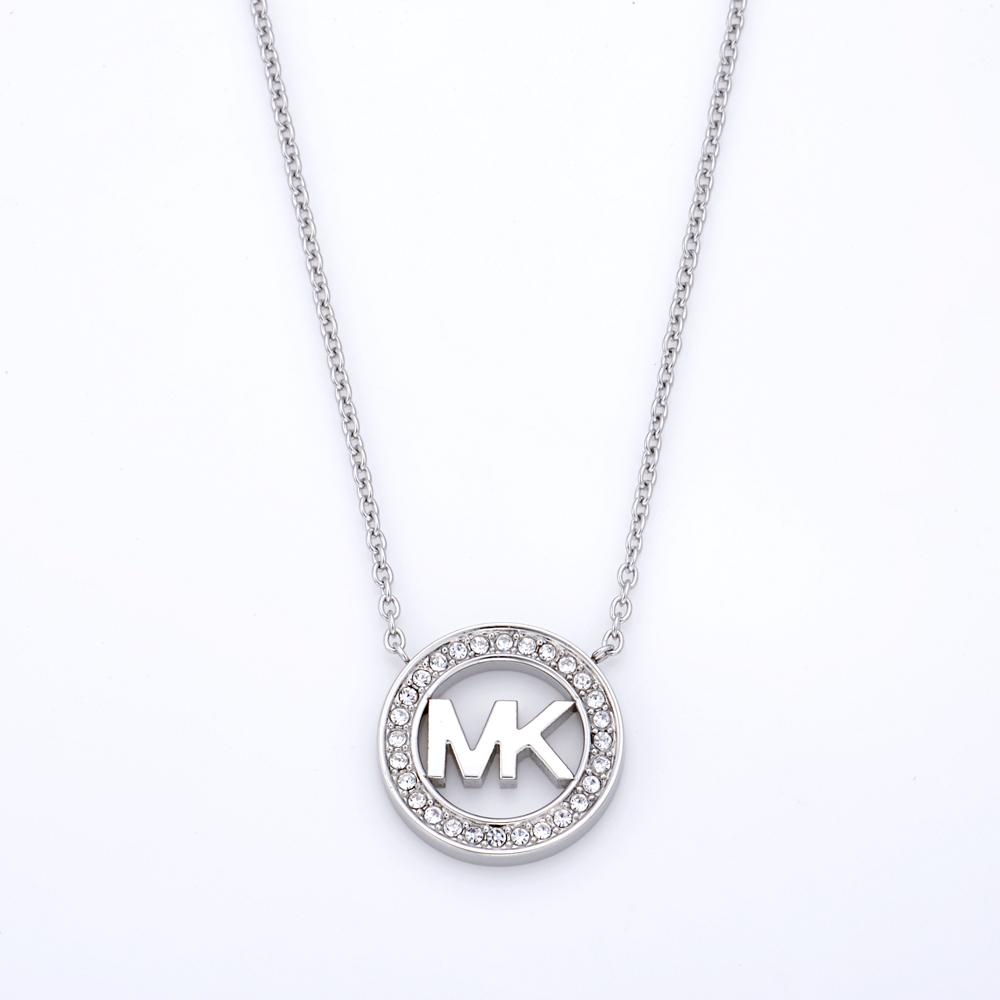 マイケルマイケルコース ネックレス MICHAEL KORS MKJ4733040 シルバー MKロゴ ペンダント