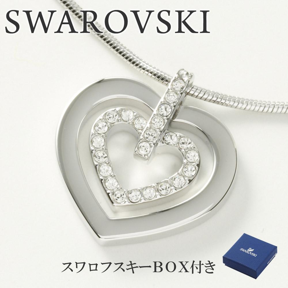 スワロフスキー ネックレス SWAROVSKI 5113776 ハート クリア×シルバー