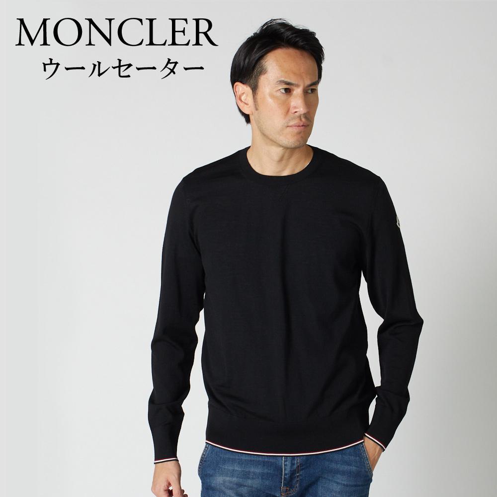 モンクレール メンズ 長袖クルーネックセーター MONCLER 9028000 979BB ブラック