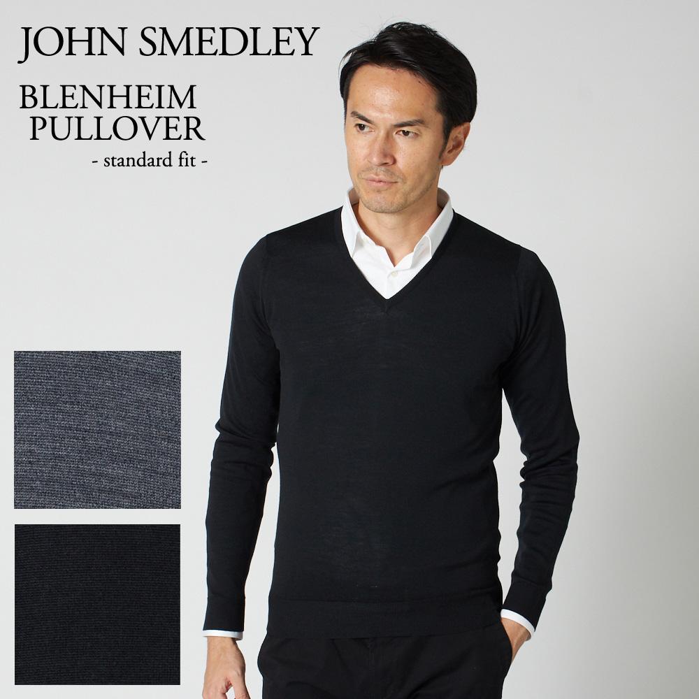 ジョンスメドレー メンズ セーター JOHN SMEDLEY BLENHEIM PULLOVER 選べるカラー