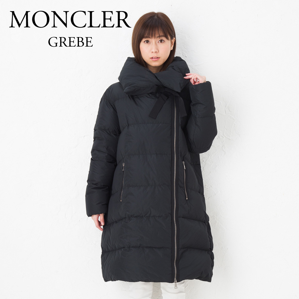 モンクレール レディース ダウンコート MONCLER 4990300 57822 GREBE ブラック (999)