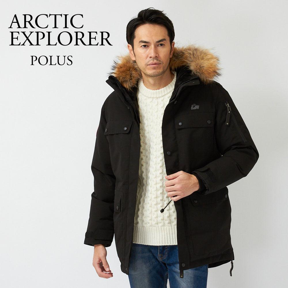 アークティックエクスプローラー ARCTIC EXPLORER メンズ ダウンコート POLUS BLACK 【dwm】【wtd】