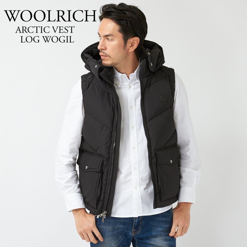 ウールリッチ WOOLRICH ダウン ベスト メンズ ARCTIC VEST LOG WOGIL0121 ブラック 【dwm】【wtd】