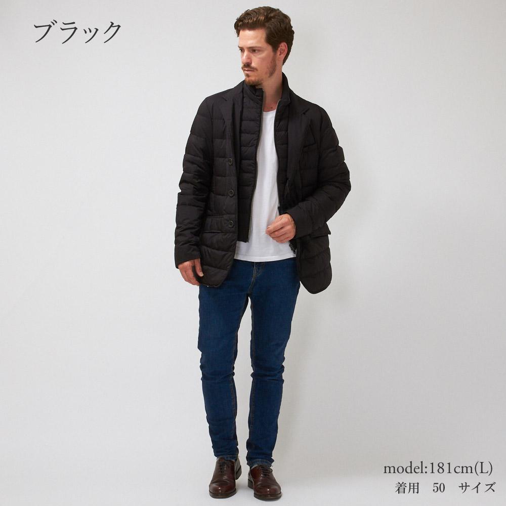 2019-2020秋冬新作 ヘルノ メンズ ダウンジャケット HERNO PI001 ULE 19288 ブラック 【mwp】