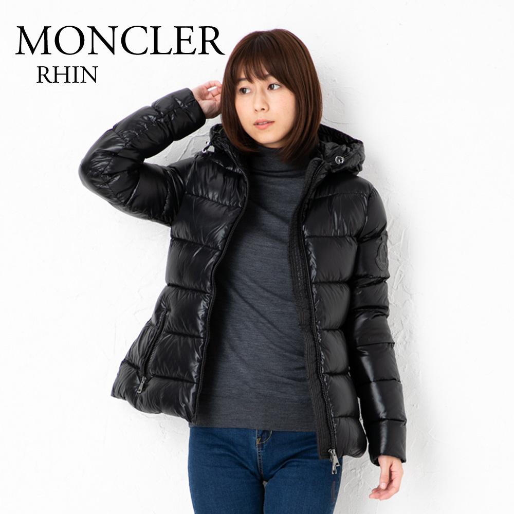 モンクレール レディース ダウンジャケット MONCLER 4693300 C0064 RHIN ブラック(999) 【dwl】