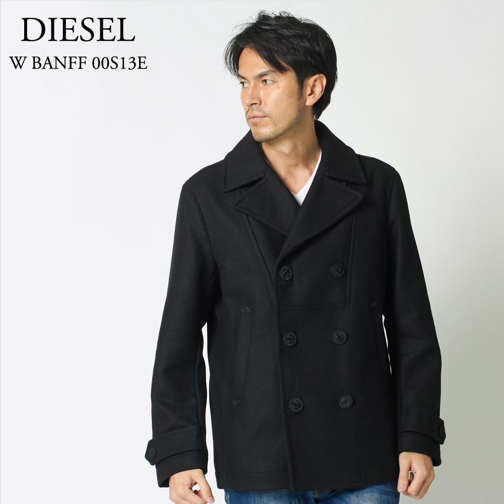 ディーゼル DIESEL メンズPコート W BANFF 00S13E 0SAJB ブラック