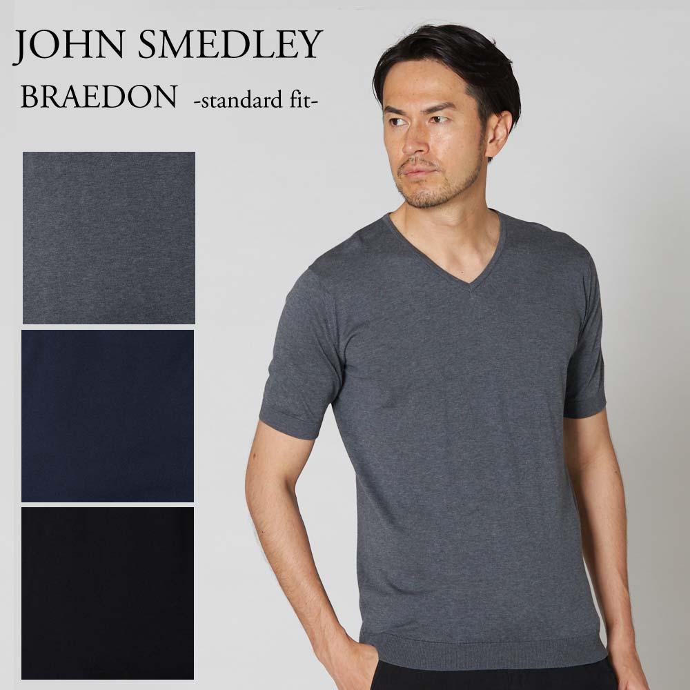 JOHN SMEDLEY ジョンスメドレー Tシャツ Vネックニット 半袖 BRAEDON メンズ STANDARD FIT