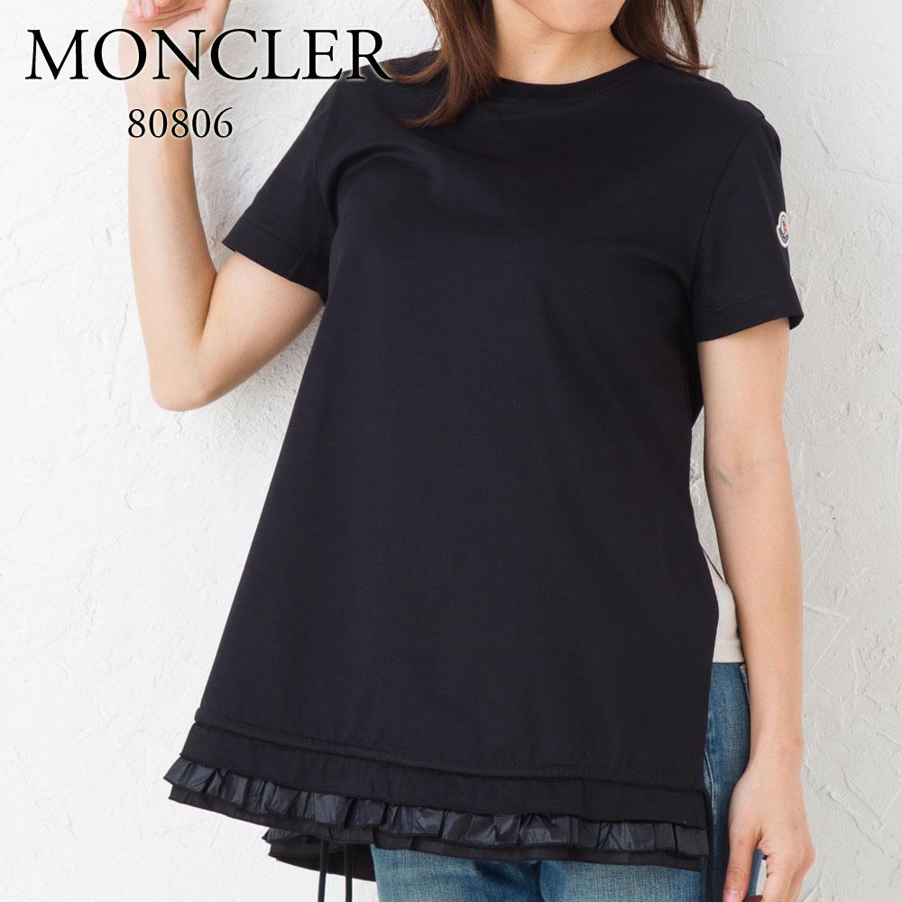モンクレール MONCLER レディース Tシャツ 80806 00 8390X ブラック