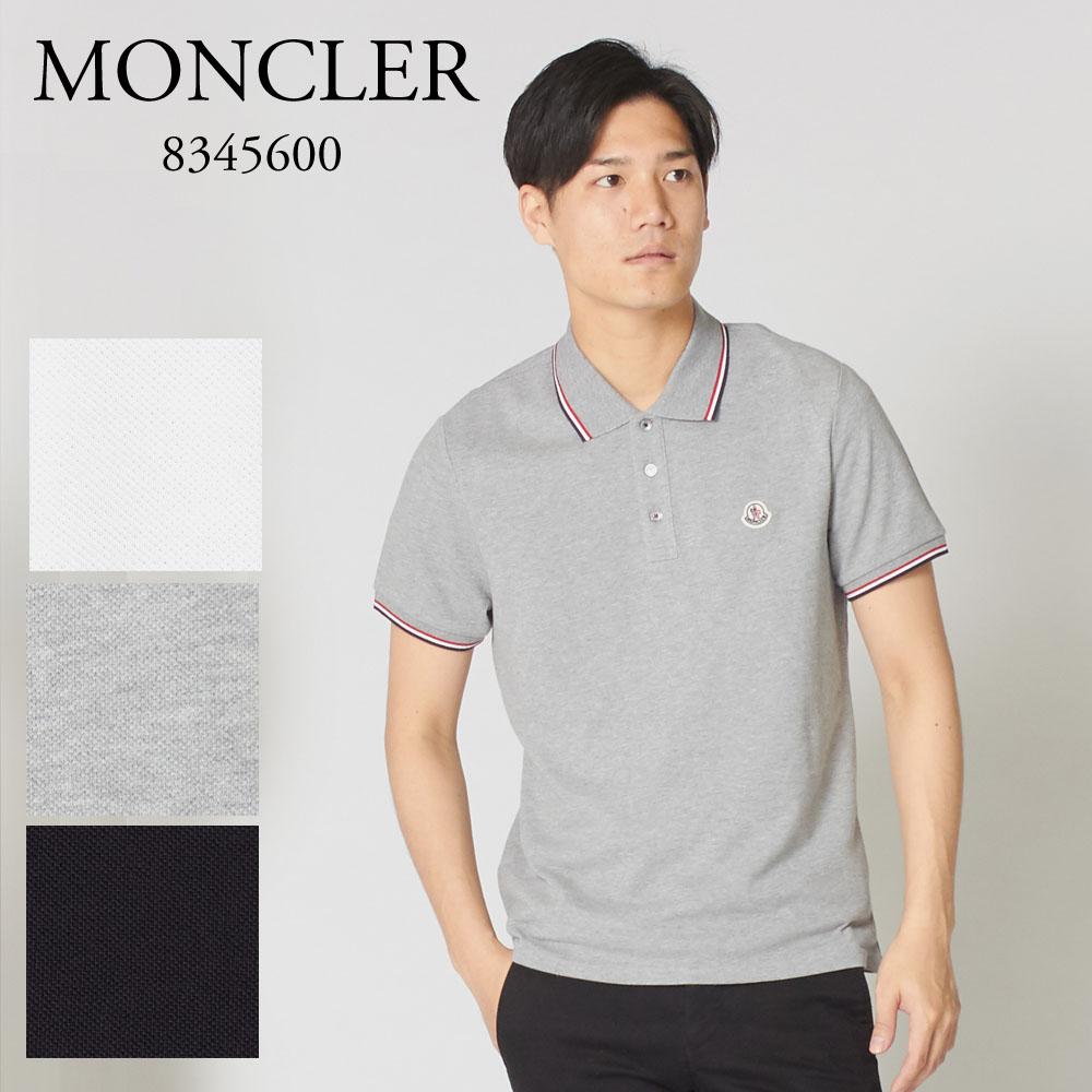 モンクレール ポロシャツ 半袖 MONCLER メンズ 83456 84556 ブラック/グレー/ホワイト