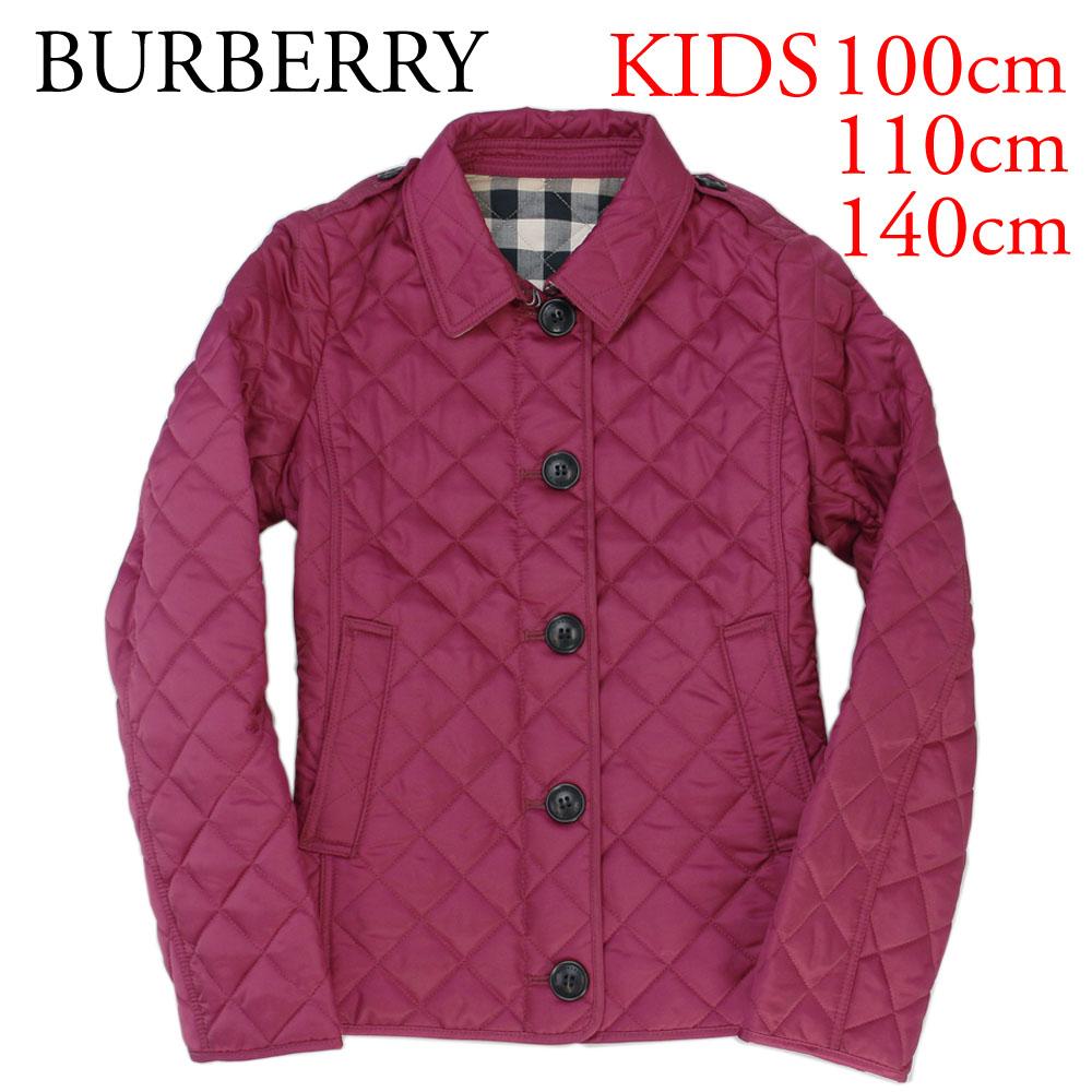 バーバリー BURBERRY キッズ キルティングジャケット 4005580 FRITILLARY PINK