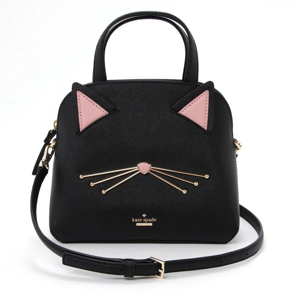 ケイトスペード KATE SPADE 2WAYバッグ 【キャッツ ミャオ:CAT'S MEOW】 cat small lottie PXRU9448 ブラック(001/BLACK) 【bgl】