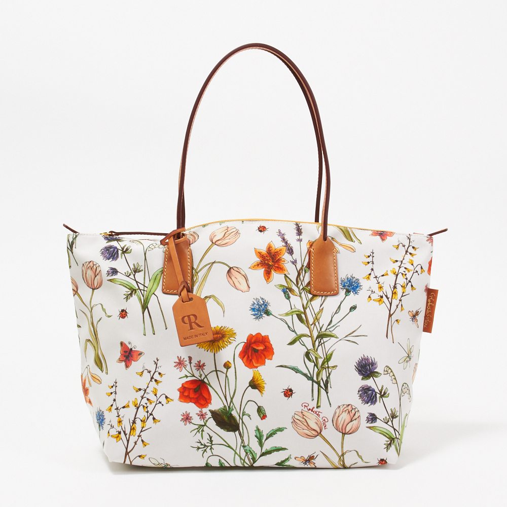 ロベルタ ピエリ ROBERTA PIERI トートバッグ 【FLOWER】 ROBERTINA LT(LARGE TOTE) WHITE 【bgl】
