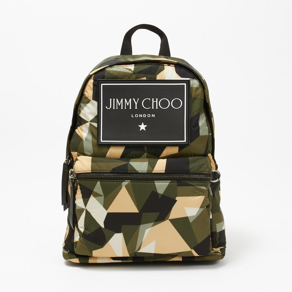 ジミーチュウ JIMMY CHOO リュックサック WILMER CIN 194 グリーン系(ARMY MIX) 【bgl】【bgm】【knf】