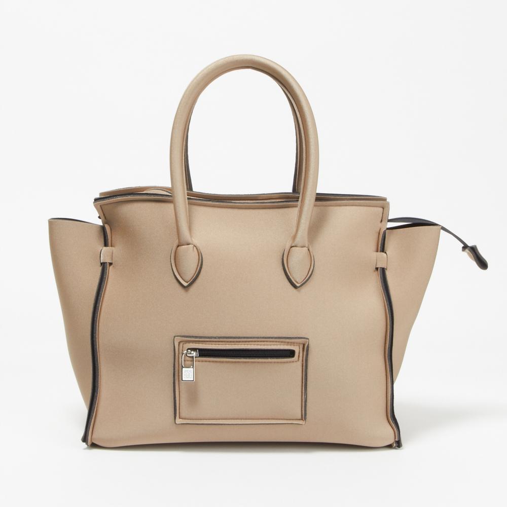セーブマイバッグ SAVE MY BAG バッグ ハンドバッグ 2129N METALLICS 【PORTOFINO LYCRA】 TOFFEE 【zx5】