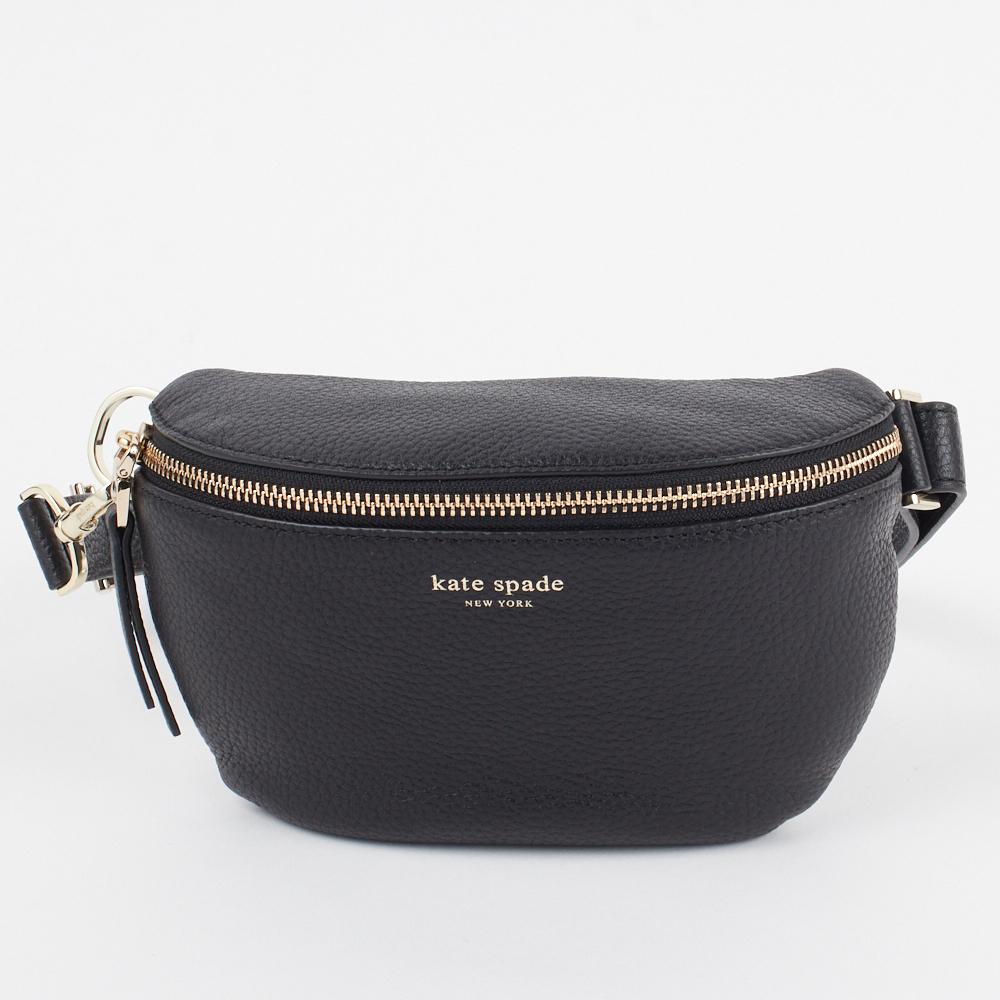 【10%OFFクーポン対象 5/5(火)0時~24時間限定!】 ケイトスペード KATE SPADE ウエストポーチ ボディバッグ 【POLLY:ポリー】 medium belt bag PXRUA366 ブラック(001/BLACK) 【bgl】【bkb】