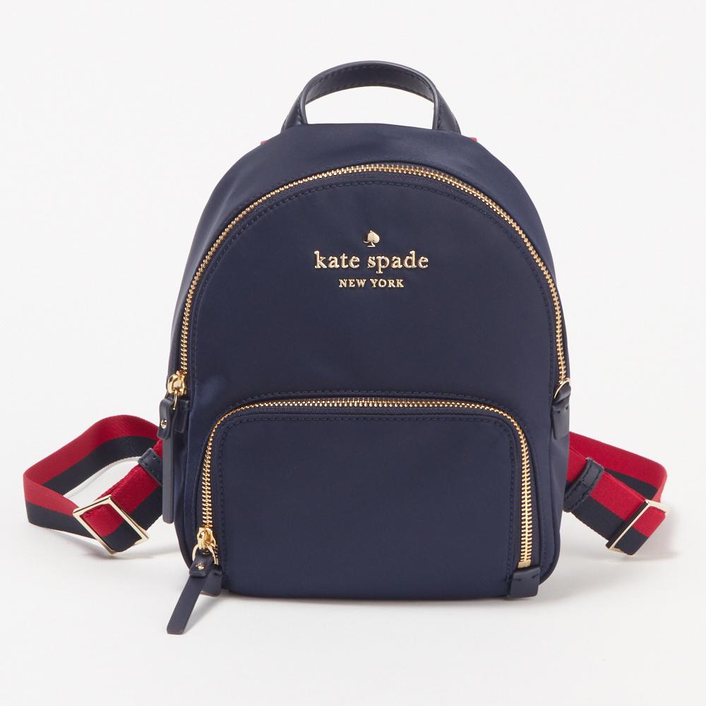ケイトスペード KATE SPADE バッグ バックパック 【WATSON LANE VARSITY STRIPE 】SMALL HARTLEY:スモールハートレー PXRU9023 ネイビー系(937)