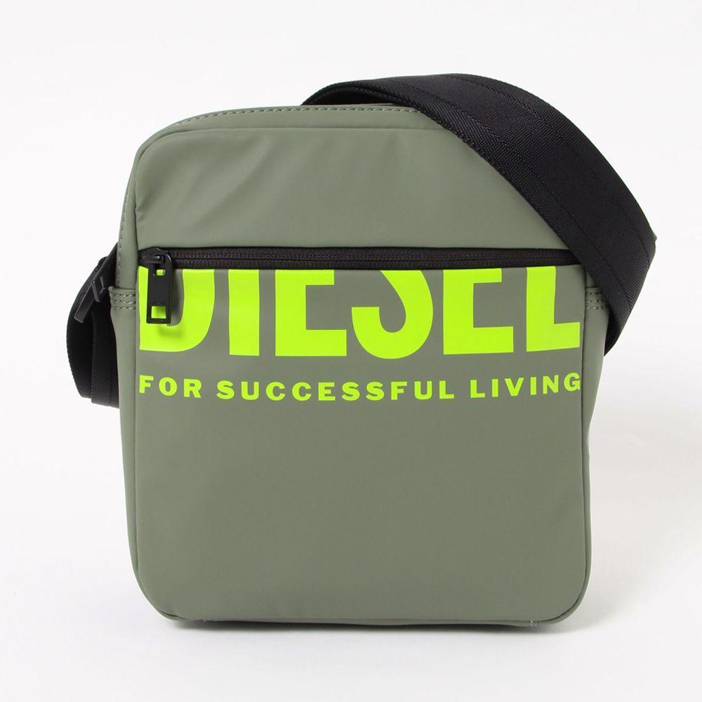 ディーゼル 超歓迎された ショルダーバッグ 人気激安 F-BOLD DOUBLECROSS BOLDMESSAGE X07501 P3188 T7398 DIESEL OLIVINE カーキ系