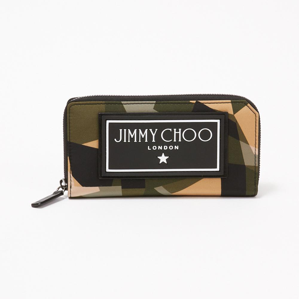 【訳あり】【D-28】ジミーチュウ JIMMY CHOO 長財布 SEKI CIN 194 グリーン系(ARMY MIX) 【skm】
