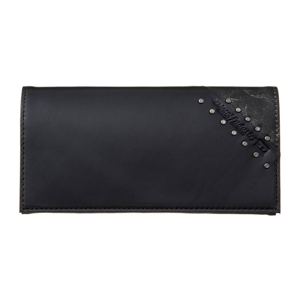ディーゼル DIESEL 財布 長財布 X05259 PR860 H4832 Black/Dark Silver 【LINE UP】 【skm】