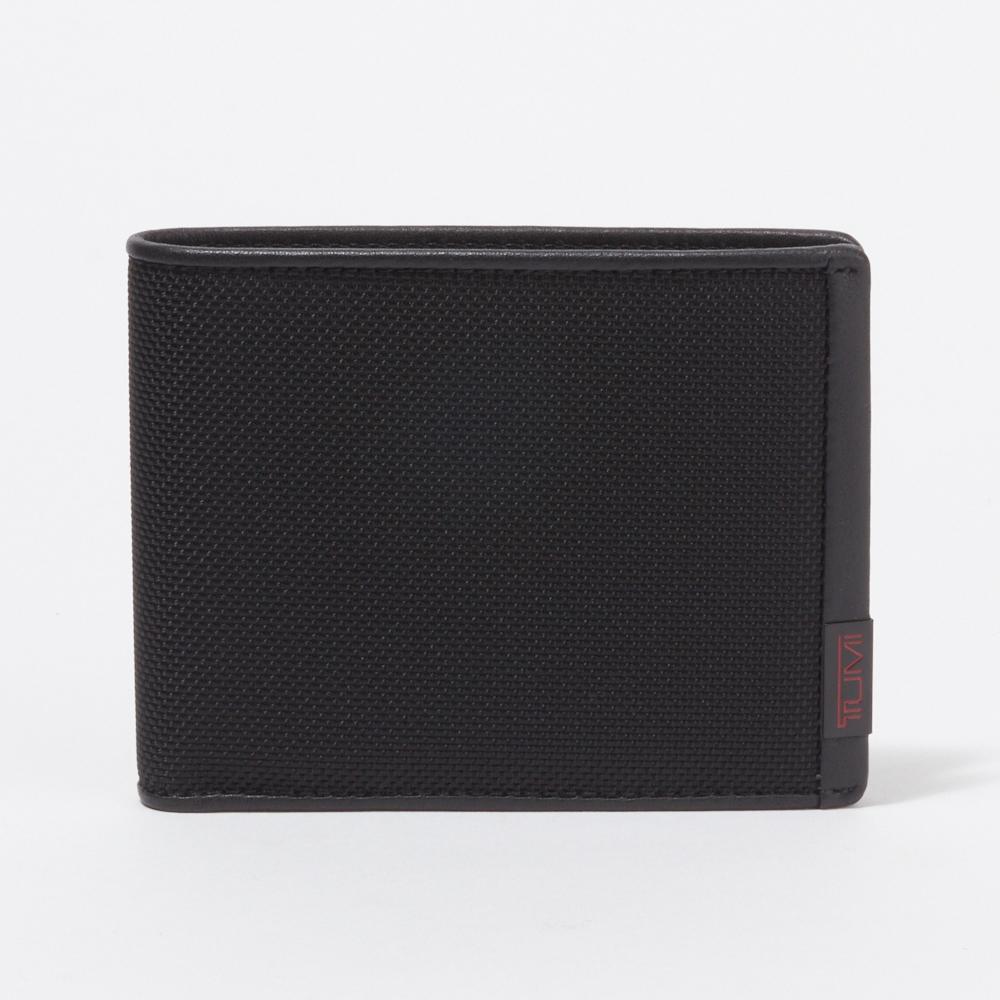 トゥミ TUMI 財布 折財布 【Global Wallet With Coin Pocket】 BLACK 119237 DID ALPHA SLG