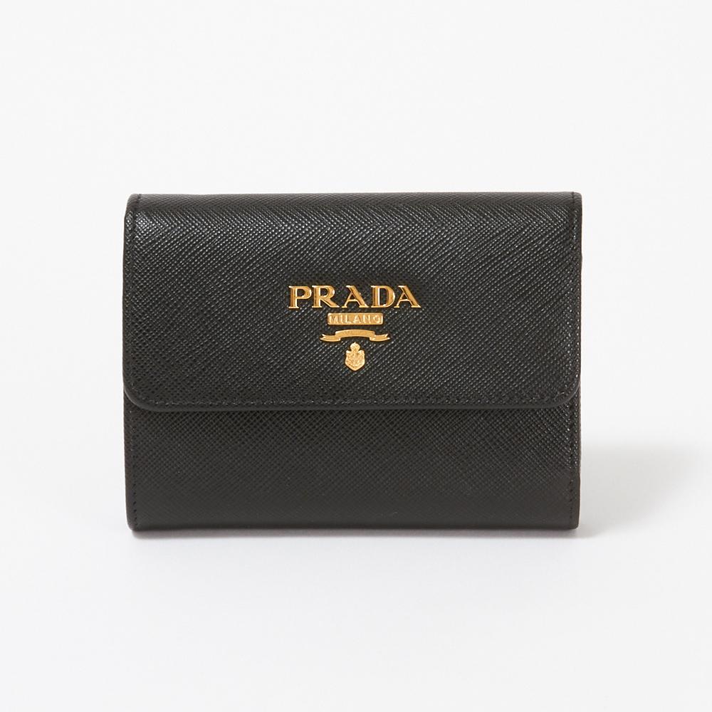 プラダ 折財布 【SAFFIANO METAL】 1MH025 QWA F0002 NERO PRADA 【skl】