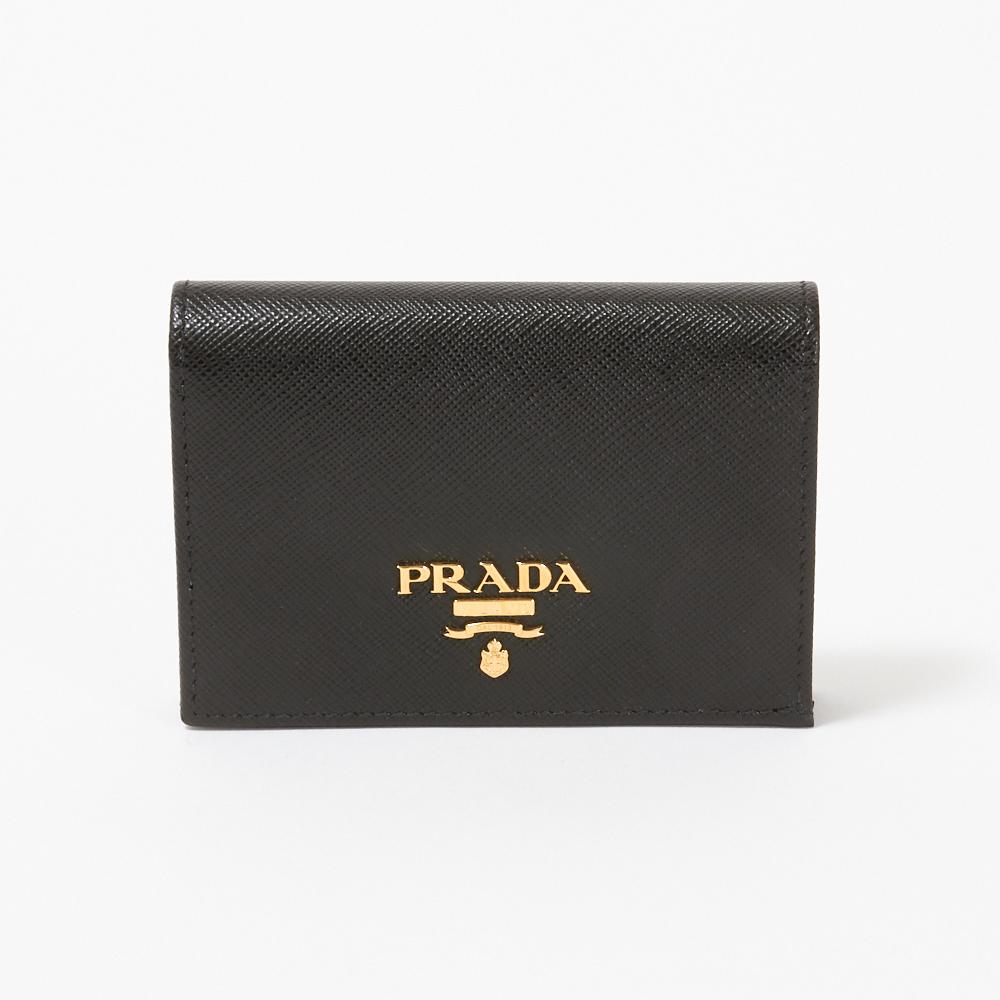 プラダ 折財布 【SAFFIANO METAL】 1MV021 QWA F0002 NERO PRADA 【skl】