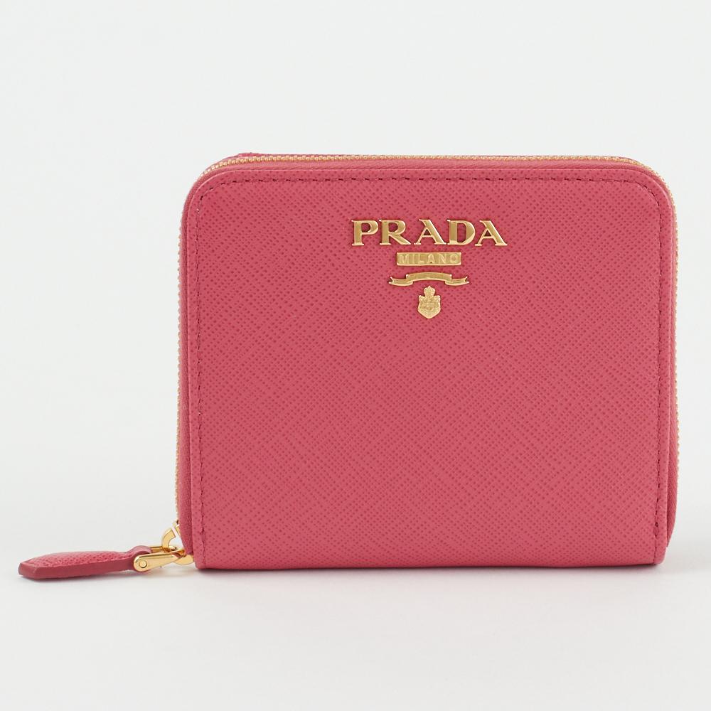 プラダ 折財布 SAFFIANO METAL 1ML036 QWA ピンク系 F0505 PEONIA PRADA skl 海外 ブランド セット お祝 成人式 還暦祝 当店では 年越し