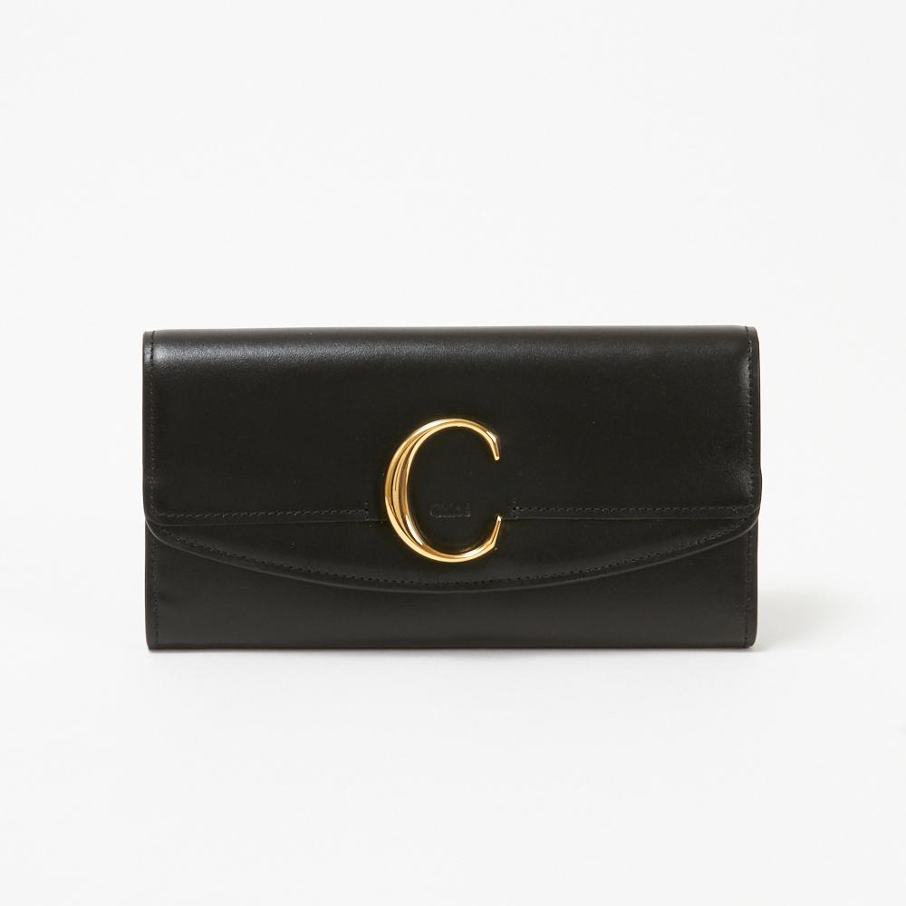 クロエ CHLOE 長財布 【CHLOE C:クロエ シー】 CHC19SP055A37 ブラック(001/BLACK) 【skl】
