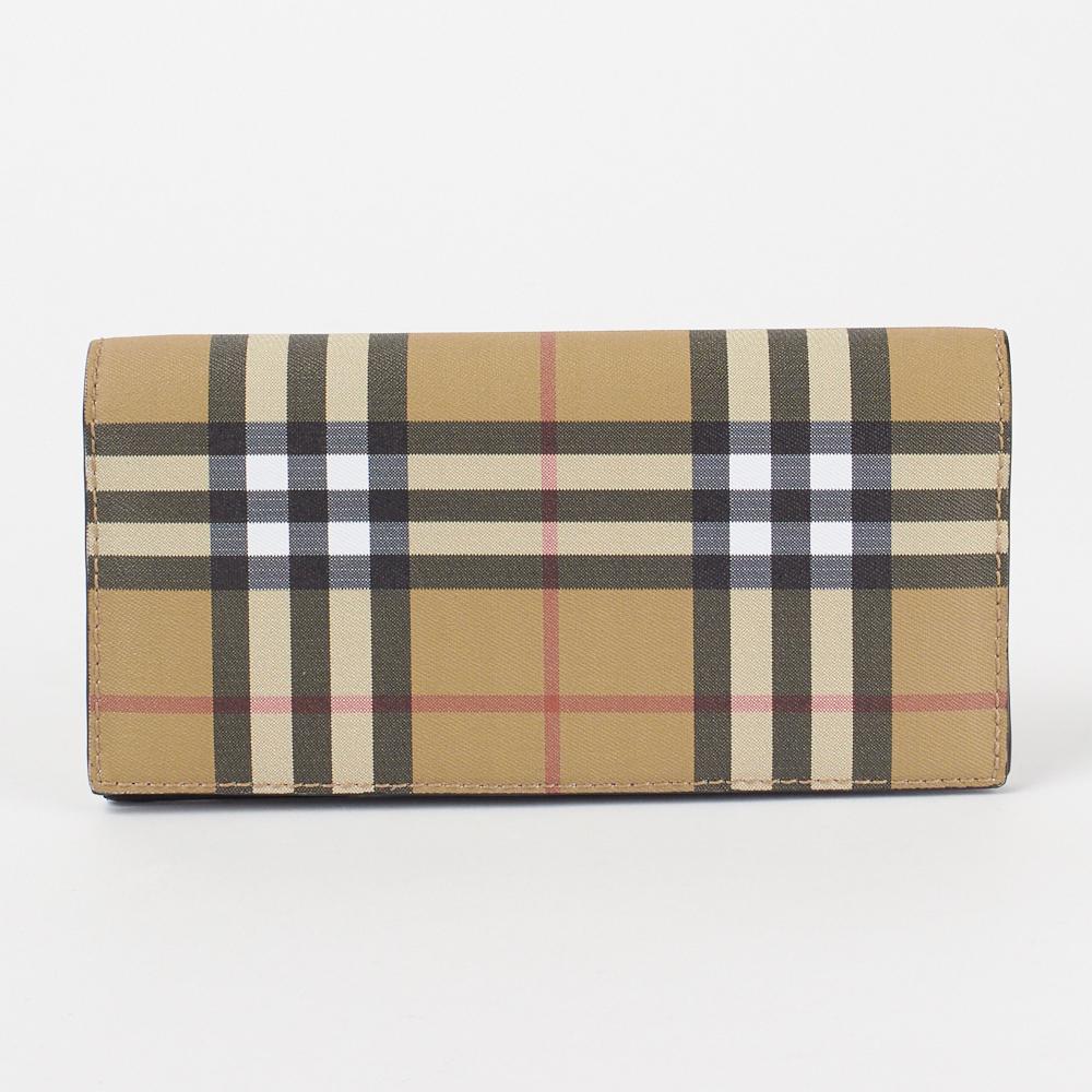 バーバリー 長財布 【Vintage Check&Leather Continental Wallet】 4074704 BLACK BURBERRY 【skm】【knd】