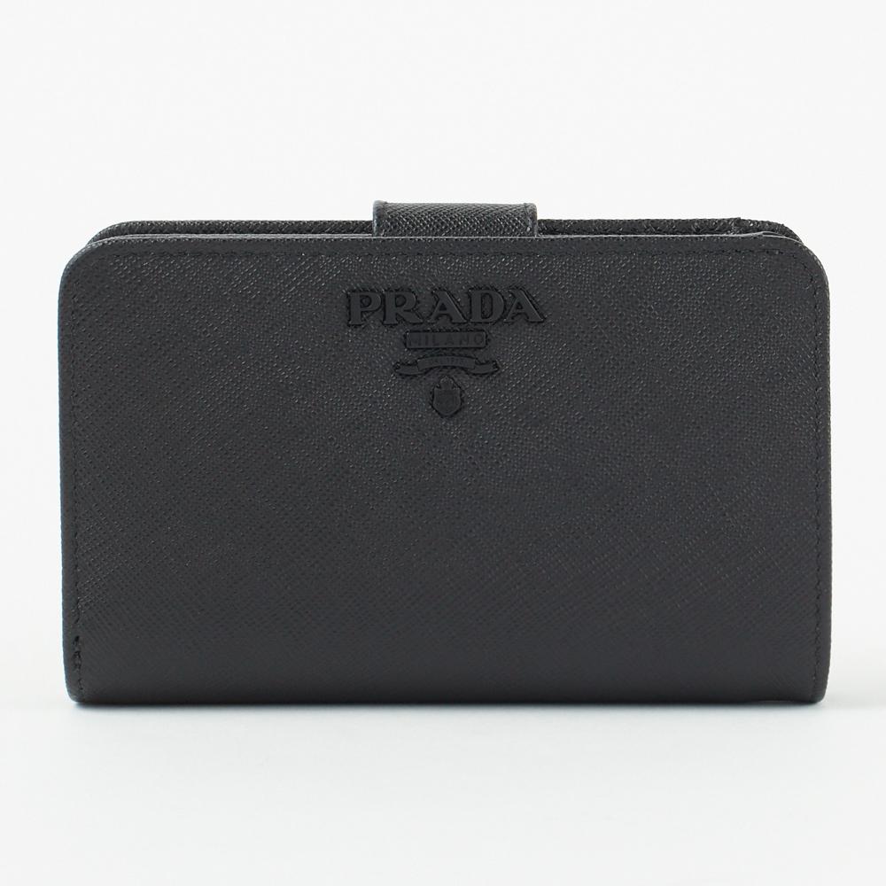 プラダ 折財布 【SAFFIANO SHINE】 1ML225 2EBW ブラック(F0ES9 NERO) PRADA 【skl】