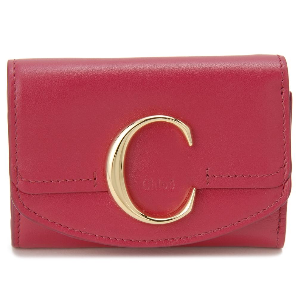 クロエ 折財布 【CHLOE C:クロエ シー】 CHC19UP058 A37 ピンク系(6BB/CRIMSON PINK) CHLOE