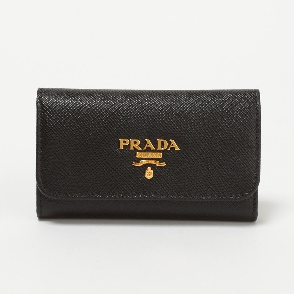 プラダ キーケース PRADA 1PG222 QWA F0002 NERO 【SAFFIANO METAL】 【skl】【skm】