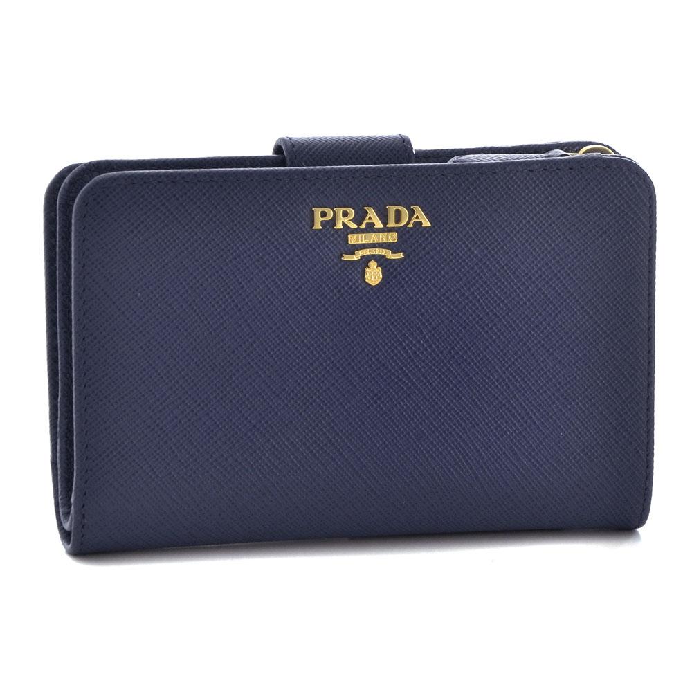 プラダ 財布 折財布 PRADA 1ML225 QWA F0016 BLUETTE 【SAFFIANO METAL ORO】 【skl】