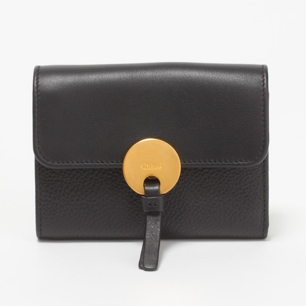 クロエ 財布 折財布 CHLOE 3P0853 H8J 001 BLACK 【INDY SLG:インディ】