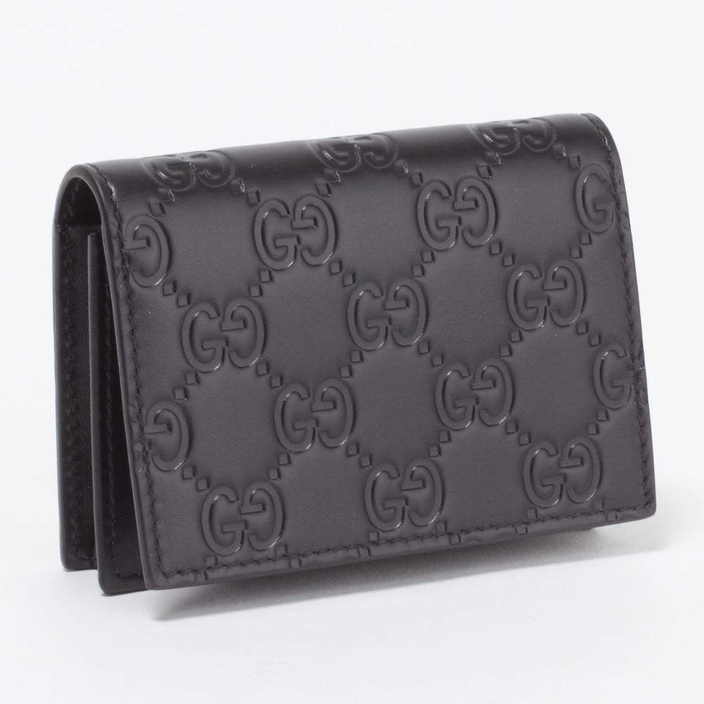 グッチ GUCCI カードケース 406694 CWC1R 1000 ブラック 【GUCCISSIMA:グッチシマ】, ヒガシヤツシログン 4b523d36