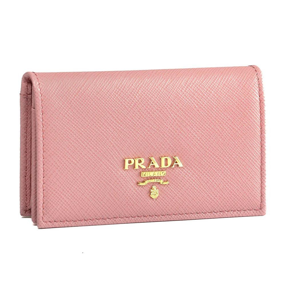 プラダ PRADA カードケース 1MC122 QWA F0442 PETALO 【SAFFIANO METAL】