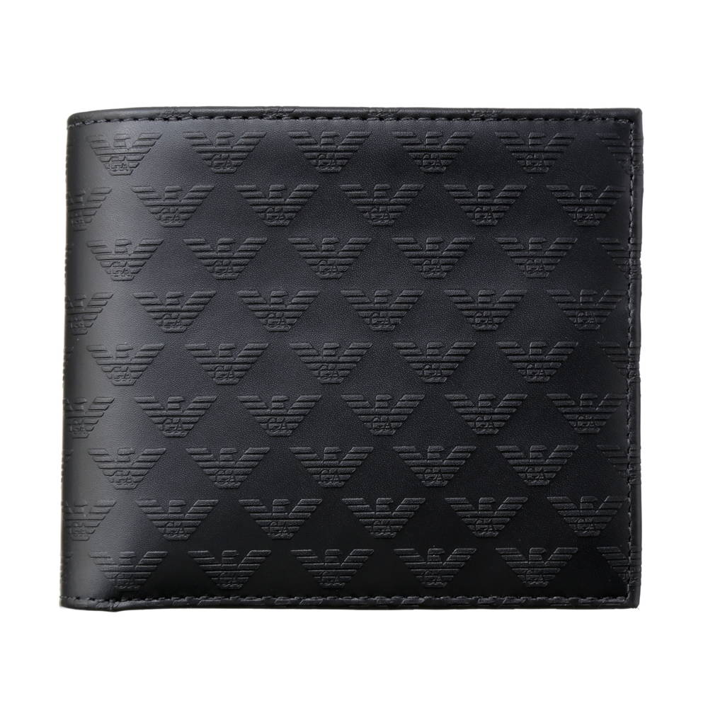 エンポリオアルマーニ EMPORIO ARMANI 財布 折財布 YEM122 YC043 80001 BLACK 【skm】