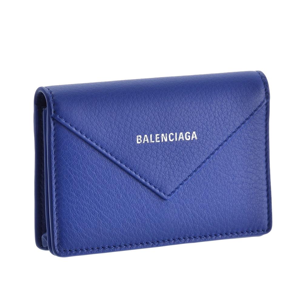 バレンシアガ BALENCIAGA カードケース 【ペーパーシィンカード:PAPIER ZA THIN CARD】 499201 DLQ0N ブルー系(4130)