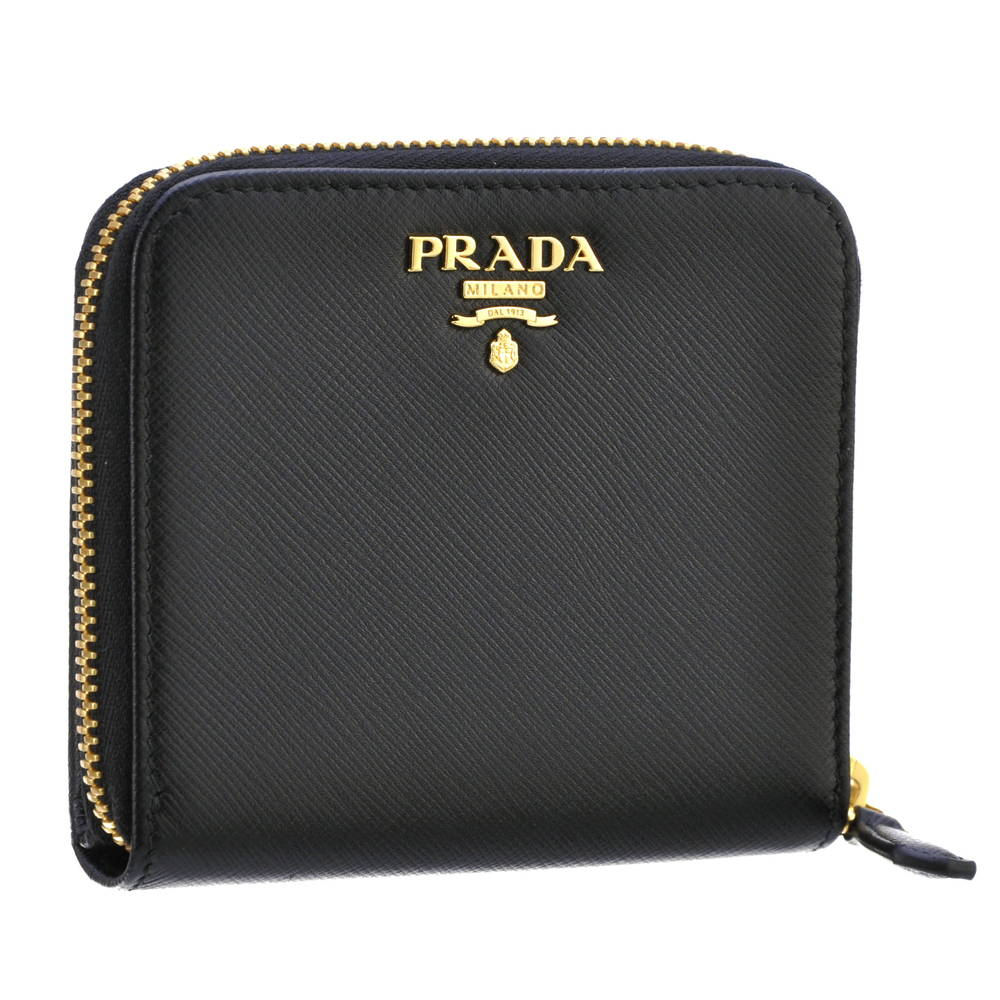 プラダ PRADA 財布 折財布 1ML522 QWA 0002 NERO 【SAFFIANO METAL】