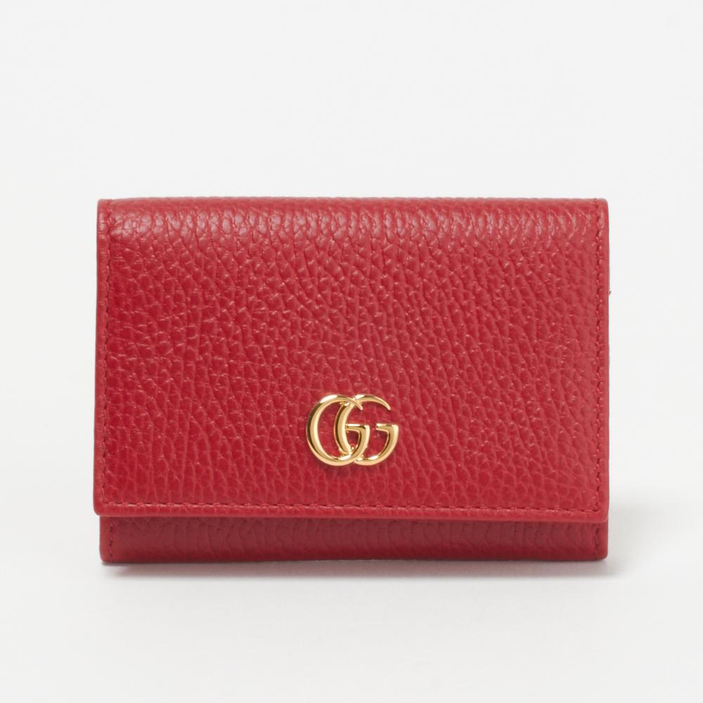 グッチ GUCCI カードケース 474748 CAO0G 6433 【PETITE MARMONT】 HIBISCUS RED