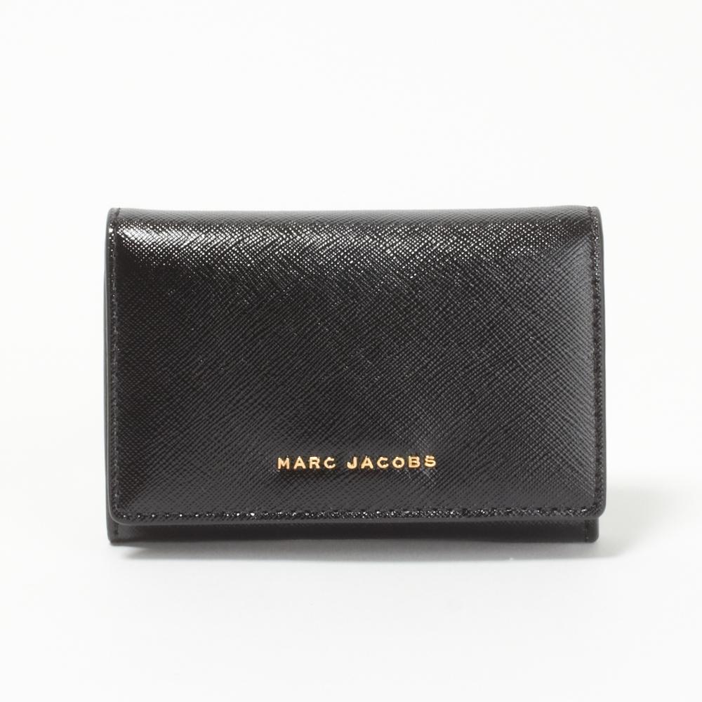 マークジェイコブス MARCJACOBS カードケース/パスケース M0012056 592 【SAFFIANO COLORBLOCKED SLGS】 BLACK/BERRY