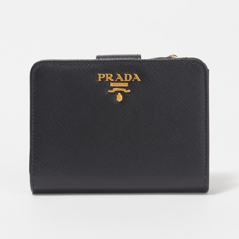 プラダ PRADA 折財布 【サフィアーノメタル:SAFFIANO METAL】 1ML018 QWA ブラック(F0002/NERO)